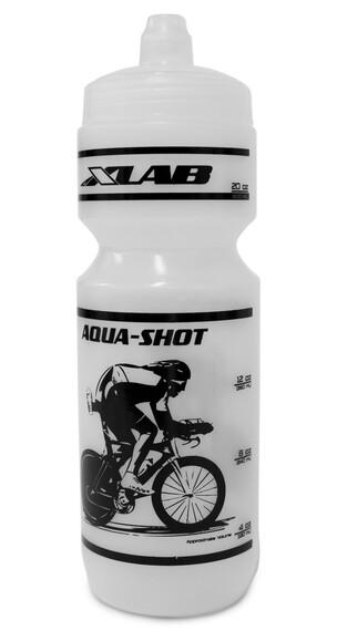 XLAB Aqua Shot Bidon biały/czarny